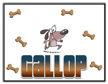 K-2 Locomotor Cards-Dogs