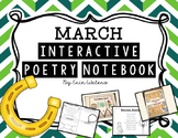K-2 March Interactive Poetry Notebook {With Original Poems!}