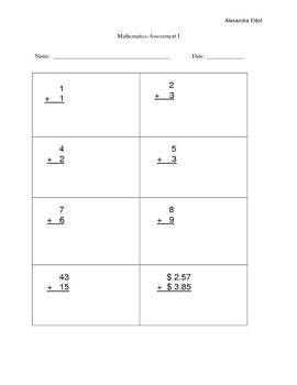 K-2 Math Assessment