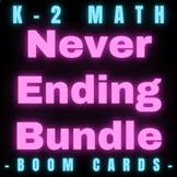 K-2 Math Boom Cards Never Ending Bundle