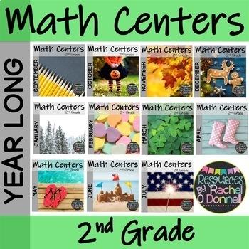 K-2 Math Centers Year Long Bundle