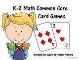 Math Card Games Common Core