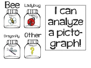 K-2 Math Daily 3 Insect Pictograph Freebie