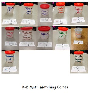 K-2 Math Matching Games