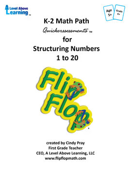 K-2 Math Path Quickerssessments for Structuring Numbers 1 to 20