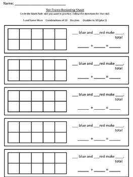 K-2 Math Path for Structuring Numbers 1 to 20