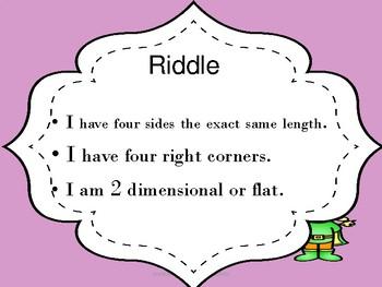 K-2 Math Riddles