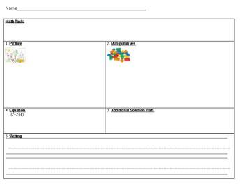 K-2 Math Task Template