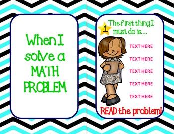 K-2 Math Word Problem Step Posters