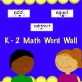 K-2 Math Word Wall