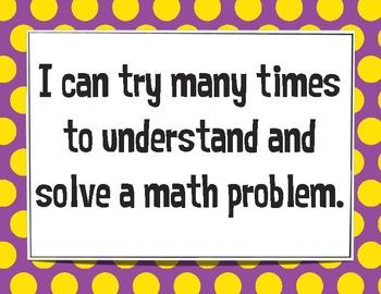 K-2 Mathematical Practices: Student Friendly Language
