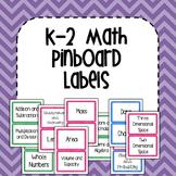 K-2 Maths Pinboard Labels