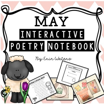 K-2 May Interactive Poetry Notebook {With Original Poems!}