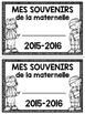K-2 Memory Book - Petit livret des souvenirs