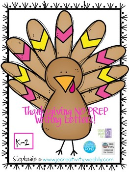 K-2 No PREP Thanksgiving Letter
