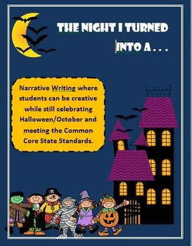 K-2 October/Halloween Narrative Writing with ELA Common Co