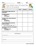 K-2 Opinion Writing Checklist