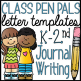 K-2 Pen Pal Letter Writing Templates and Journal Pages Cla