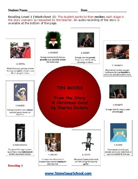 "K - 2 Physical Disabilities -  ""A Christmas Carol"" Moods of the Story - Reading"