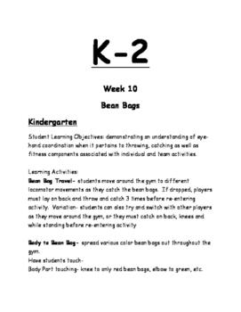 K-2 Physical Education Lesson Plan Volume 3