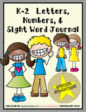 Writing Intervention Journal (Sight Words and Numbers) - K-2 SPED