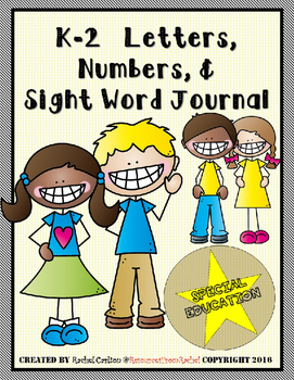 Writing Intervention Journal FREEBIE (Sight Words and Numbers) K-2 SPED