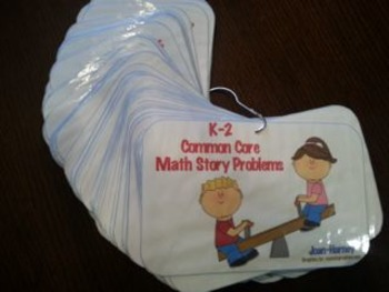 102  K-2 Problem Solving Cards AND Journal Prompt Labels for Math Journals HUGE