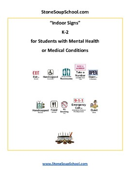 K - 2 Reading - Indoor Signs - Mental Health or Medical Conditions - Visual Aid
