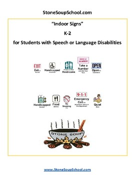 K - 2 Reading - Indoor Signs - Speech or Language Disabilities - Visual Aid