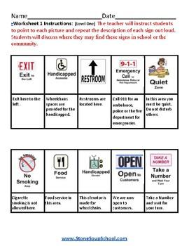 K - 2 Reading - Indoor Signs - Traumatic Brain Injuries - Visual Aid