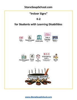 K - 2 Reading - Indoor Signs-for Students with Learning Disabilities- Visual Aid