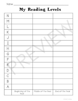K-2 Reading Level Tracker (Spanish & English) - 300 FOLLOWERS FREEBIE!