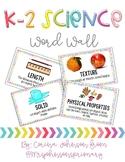K-2 Science Vocabulary Cards