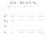 K-2 Sight Word Spelling Pages