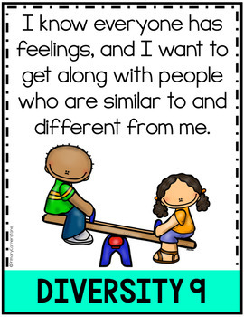 "K-2 Social Justice Posters-Kid Friendly ""I Can""-Anchor Charts"