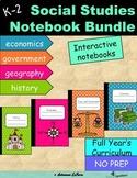 K-2 Social Studies BUNDLE for Interactive Notebooks