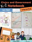 K-2 Social Studies: Civics and Government Unit for Interactive Notebooks