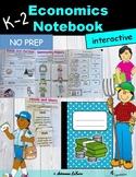 K-2 Social Studies: Economics Unit for Interactive Notebooks