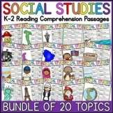 K-2 Social Studies Reading Comprehension Passages Bundle