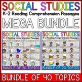 K-2 Social Studies Reading Comprehension Passages Mega Bun