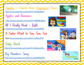 K-2 Songs for Music and Assembly Items