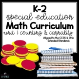 K-2 Special Education Math Curriculum: Unit 1 Counting and