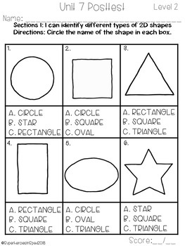 K-2 Special Education Math Curriculum Unit 7: Geometry