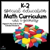 K-2 Special Education Math Curriculum Unit 7: Geometry