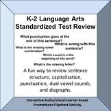 K-2 Standardized Test Language Arts Review Fun Promethean Board Activity