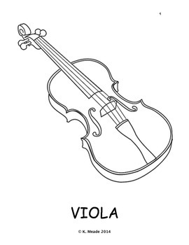 K - 2 String Instrument Family Book and Bulletin Board Materials