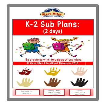 K-2 Substitute Plans:(2 days)