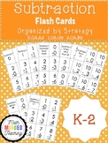 K-2 Subtraction Flash Cards by Strategy