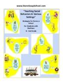 ASL, Pre K- 2, Teaching Social Behaviors w/ Visual Aids fo