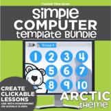 K-2 Technology Computer Lab Lesson Plans: Arctic Simple Computer Templates